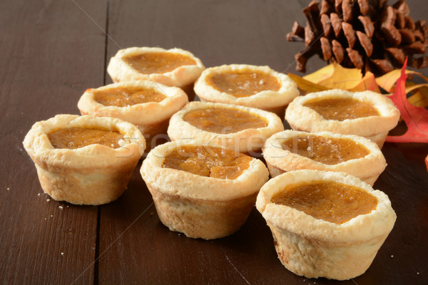 Mini pumpkin dessert tarts Stock photo © MSPhotographic