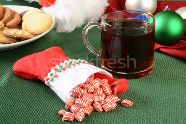 Peppermint Christmas candy Stock photo © MSPhotographic