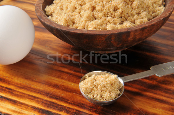 Cassonade cuillère oeuf alimentaire cuisson Photo stock © MSPhotographic
