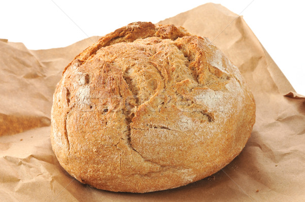 Rustic loaf of whole wheat bread Stock photo © MSPhotographic