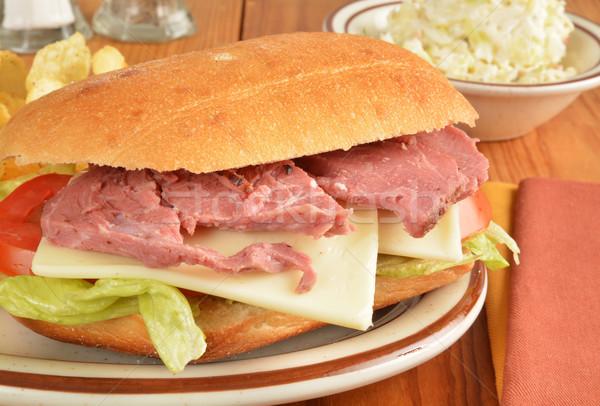 говядины сэндвич хлеб капустный салат еды салата Сток-фото © MSPhotographic