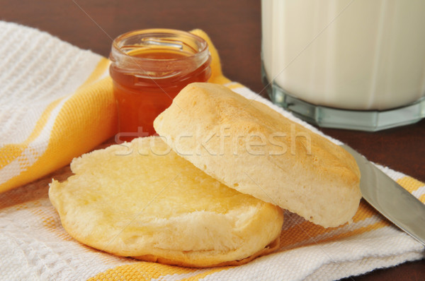 Hot buttered biscuit Stock photo © MSPhotographic