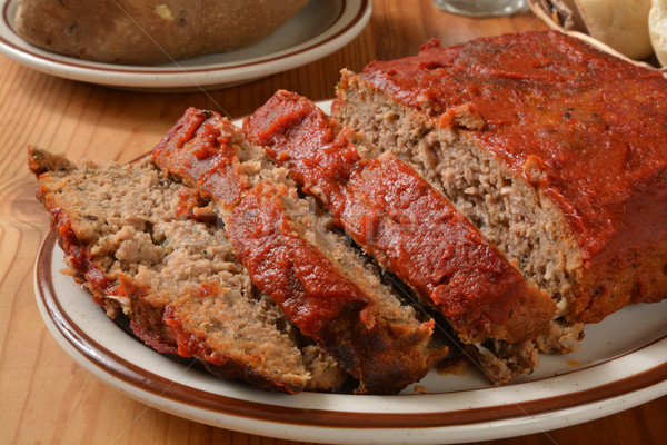 Sliced meatloaf Stock photo © MSPhotographic