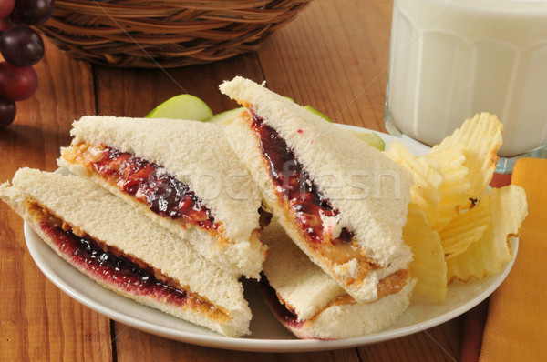 Peanut butter and jelly sandwich Stock photo © MSPhotographic