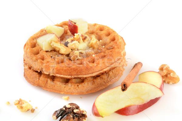 Glutenvrij kaneel appels voedsel achtergrond ontbijt Stockfoto © MSPhotographic