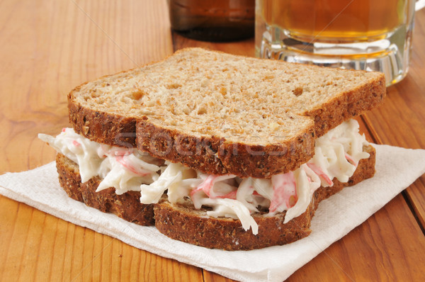 Crab sandwich and beer Stock photo © MSPhotographic