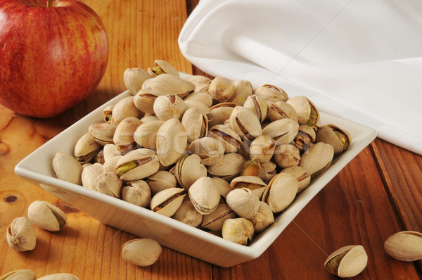Bowl of pistachios Stock photo © MSPhotographic