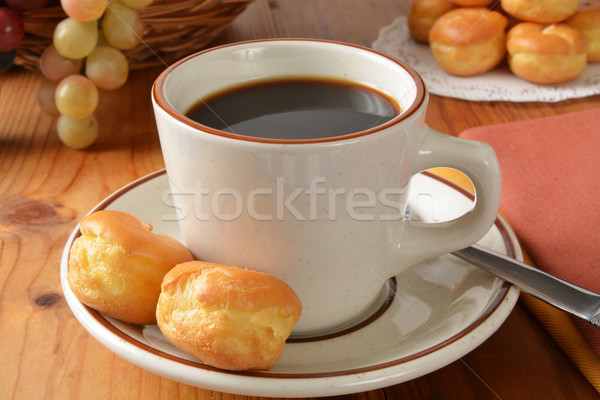 Coffee with cream puffs Stock photo © MSPhotographic
