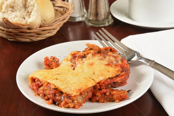Berinjela parmesão prato jantar tomates Foto stock © MSPhotographic