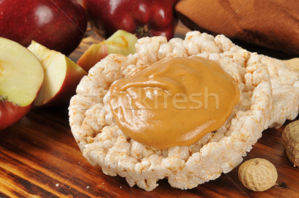 Peanut butter on a rice cake Stock photo © MSPhotographic
