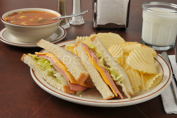 Soup and sandwich Stock photo © MSPhotographic