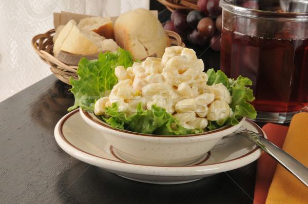 Macaroni salade diner glas sap Stockfoto © MSPhotographic