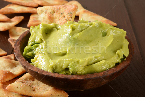 Guacamole and pita chips Stock photo © MSPhotographic