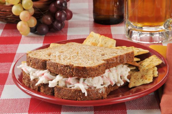 Crab salad sandwich Stock photo © MSPhotographic