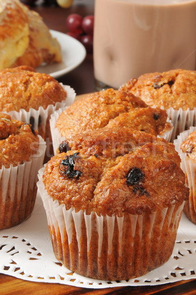 Bran muffins closeup Stock photo © MSPhotographic