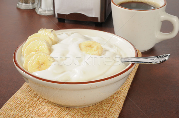 Banana yogurt Stock photo © MSPhotographic