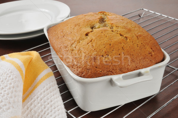 Fresh baked banana bread Stock photo © MSPhotographic