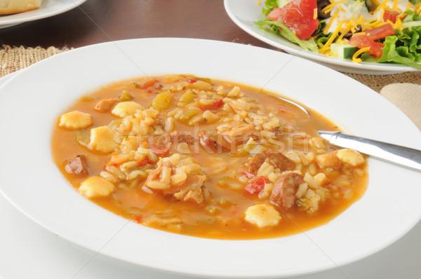 Chicken gumbo soup Stock photo © MSPhotographic