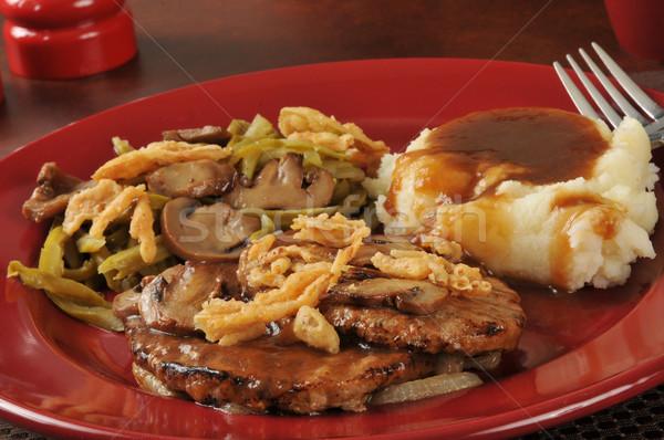 Salisbury steak and mashed potatoes Stock photo © MSPhotographic