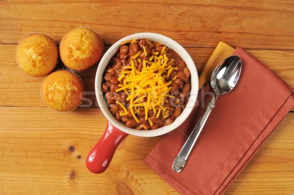 Chili and cornbread Stock photo © MSPhotographic