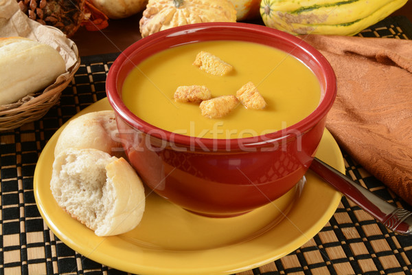 Squash soupe bol dîner alimentaire Photo stock © MSPhotographic