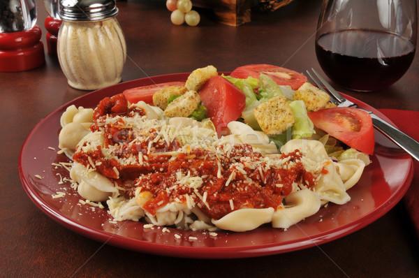Cheese tortellini with marinara sauce Stock photo © MSPhotographic