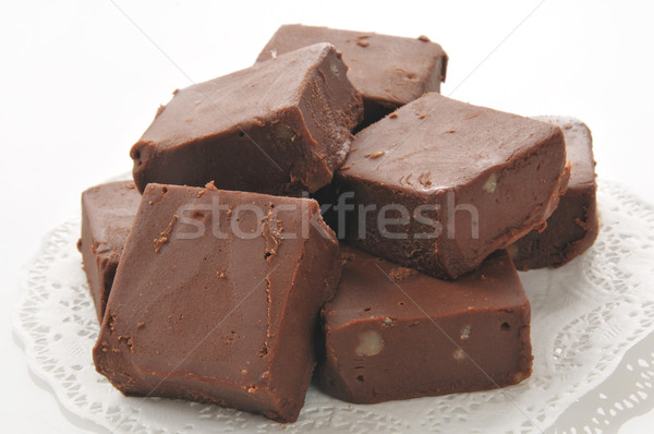Fudge with nuts Stock photo © MSPhotographic