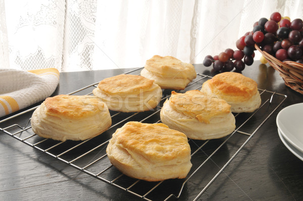 Biscuits cooling on a rack Stock photo © MSPhotographic