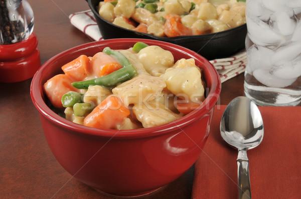 Poulet coloré bol viande repas Photo stock © MSPhotographic