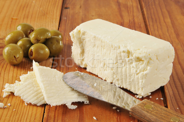 Feta cheese and olives Stock photo © MSPhotographic