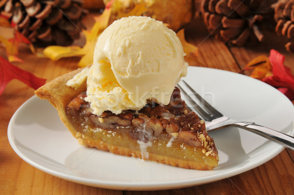 Pecan pie a la mode Stock photo © MSPhotographic