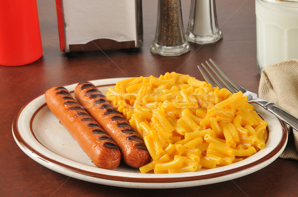 Hot dogs and macaroni and cheese Stock photo © MSPhotographic
