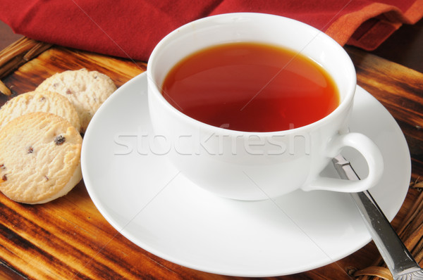 Red tea and shortbread cookies Stock photo © MSPhotographic