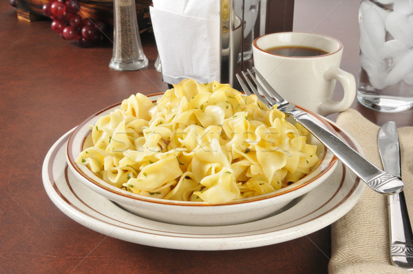 Buttered noodles Stock photo © MSPhotographic