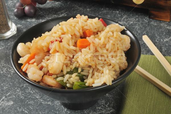 Shrimp fried rice Stock photo © MSPhotographic