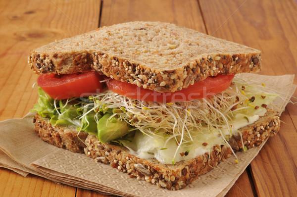 Vegetarian Sandwich Stock photo © MSPhotographic