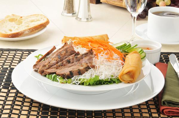 Beef Vietnamese Noodle Salad Stock photo © MSPhotographic