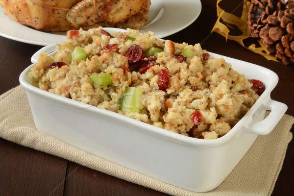 chicken stuffing with cranberry Stock photo © MSPhotographic