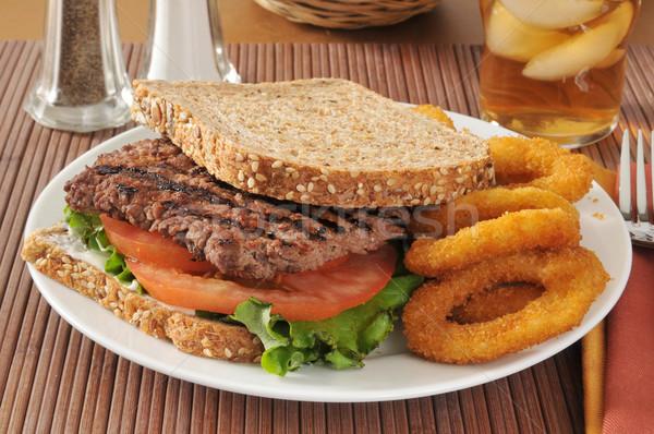 Cube steak sandwich Stock photo © MSPhotographic