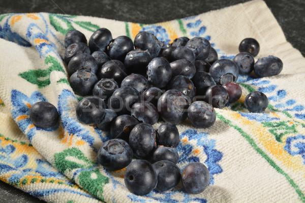 Fresh washed blueberries Stock photo © MSPhotographic