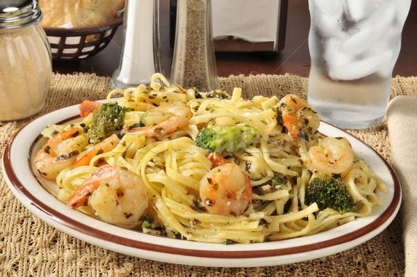 Shrimp scampi with broccoli Stock photo © MSPhotographic