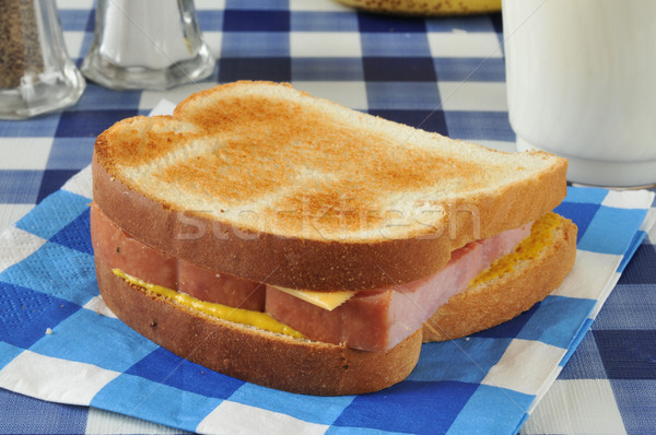 Home made ham and cheese sandwich Stock photo © MSPhotographic