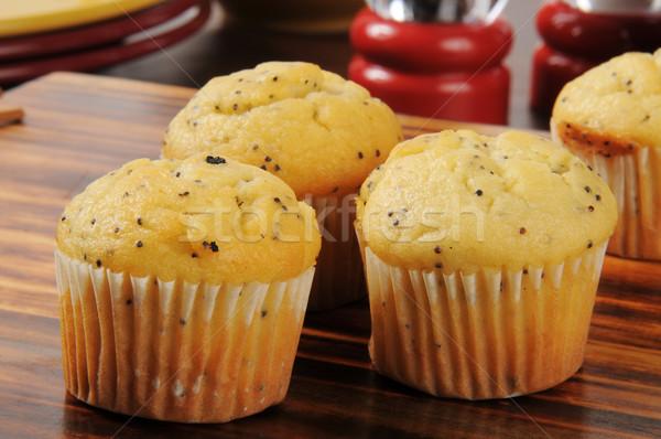 Poppyseed muffins Stock photo © MSPhotographic