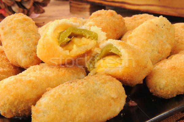 Peynir derin jalapeno yatay Stok fotoğraf © MSPhotographic
