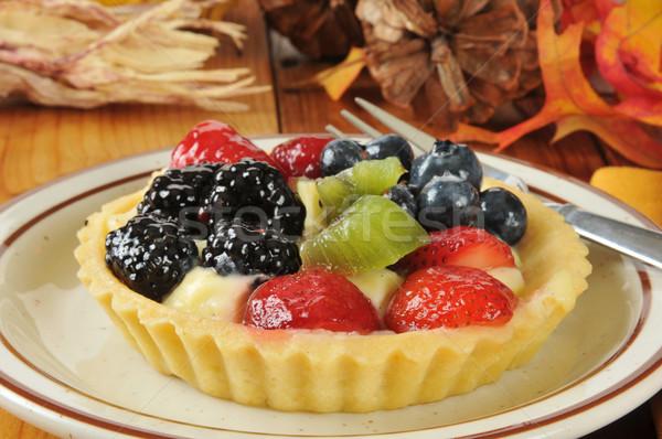Fruit and berry dessert tart Stock photo © MSPhotographic