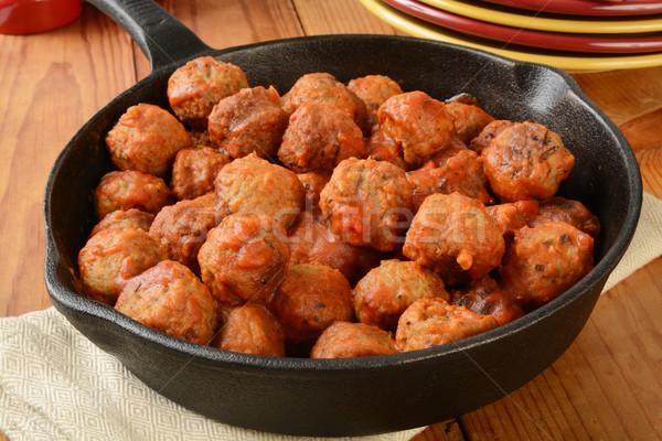 Italian meatballs Stock photo © MSPhotographic