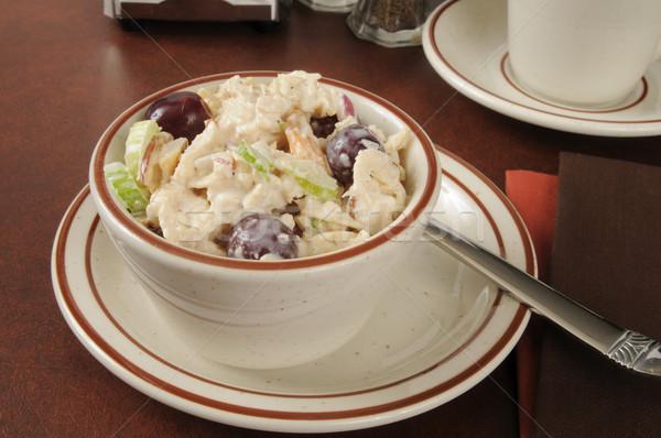 Salada de frango copo uvas aipo comida salada Foto stock © MSPhotographic