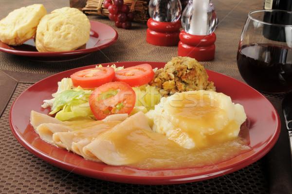 Turkey dinner Stock photo © MSPhotographic