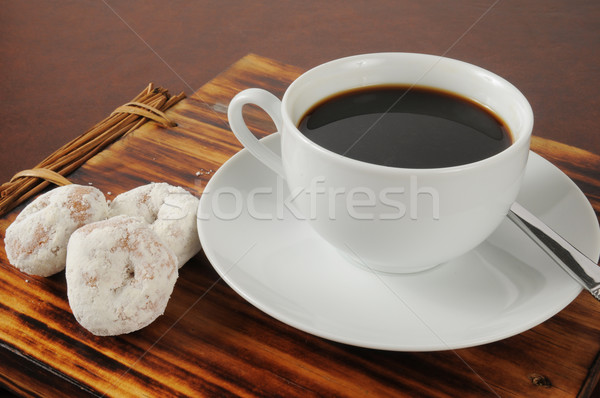 Coffee and donuts Stock photo © MSPhotographic