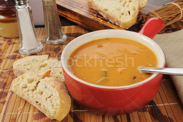 Creamy tomato bisque Stock photo © MSPhotographic